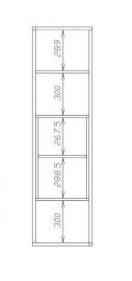 Стеллаж СТ-8 (Венге / Беленый дуб)-1