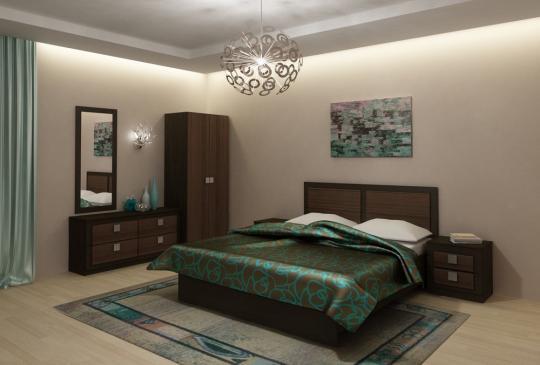 Спальня Александрия (венге подлинный/орех черный)-3