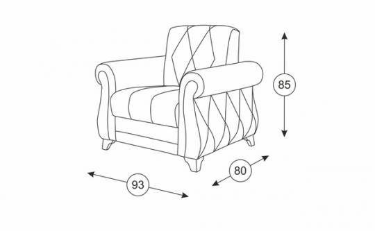 Роуз кресло для отдыха ТК 117-1