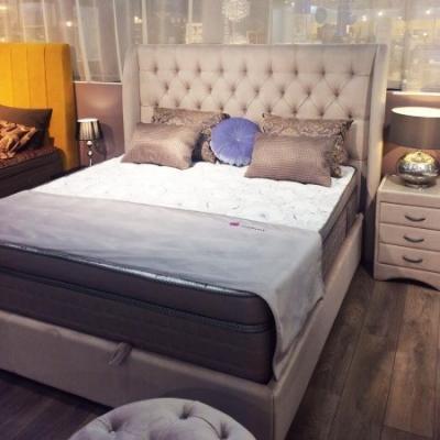 Кровать Vintage (Винтаж) с подъемным механизмом (стразы)-5