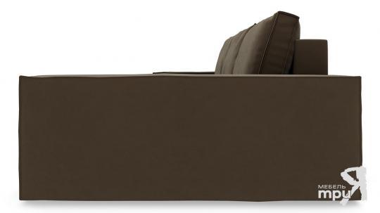 Диван угловой правый «Стенли Т2» Beauty 04 (велюр) коричневый-3