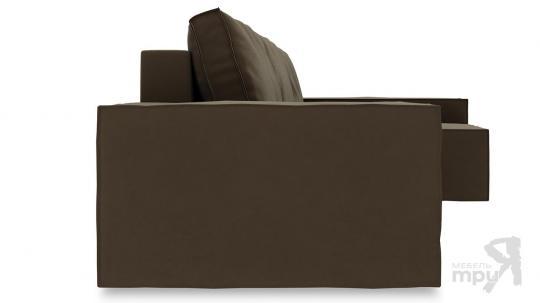 Диван угловой правый «Стенли Т2» Beauty 04 (велюр) коричневый-2