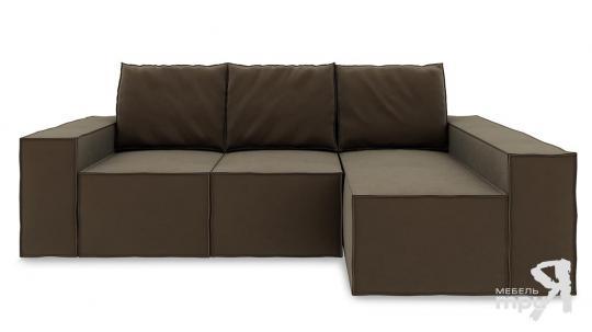 Диван угловой правый «Стенли Т2» Beauty 04 (велюр) коричневый-1