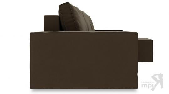 Диван угловой правый «Стенли Т1» Beauty 04 (велюр) коричневый-2