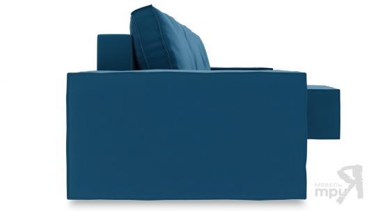 Диван угловой правый «Стенли Т1» Beauty 07 (велюр) синий-2