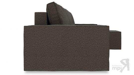 Диван угловой правый «Стенли Т1» Miami 04 (рогожка) темно-коричневый-2