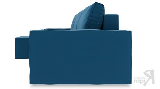 Диван угловой левый «Стенли Т1» Beauty 07 (велюр) синий-2