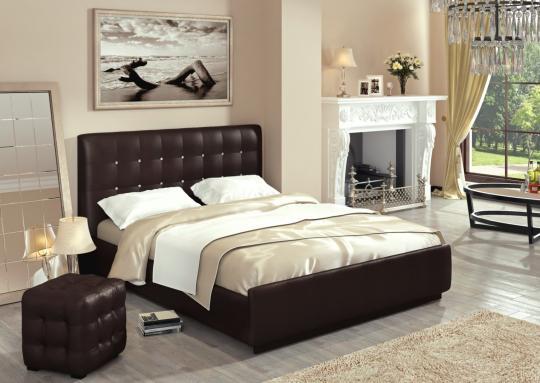 Кровать Лорена без матраса, без страз+основание-1