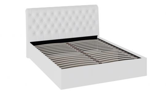 Кровать с подъемным механизмом и мягким изголовьем «Скарлет» (Белая)-2