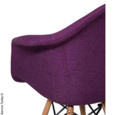 Стул Наргис Фиолетовый с подлокотниками на деревянных ножках KR860-28-2