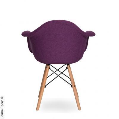 Стул Наргис Фиолетовый с подлокотниками на деревянных ножках KR860-28-1