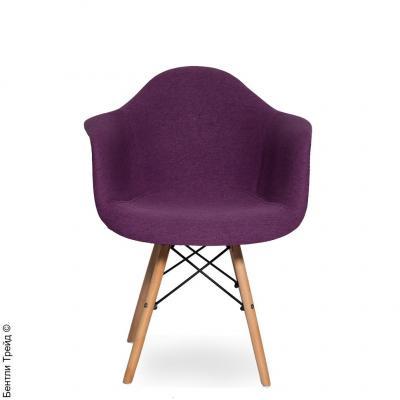 Стул Наргис Фиолетовый с подлокотниками на деревянных ножках KR860-28-3