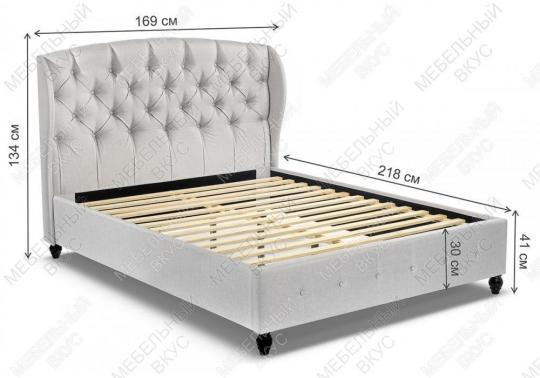 Кровать двуспальная Hadson 160х200 silver-2