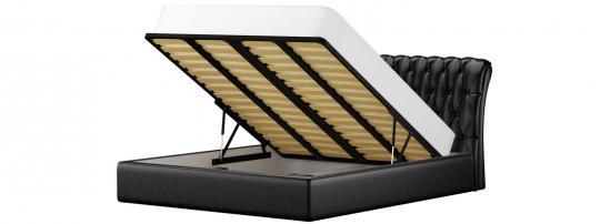 Кровать Сицилия (Эко-кожа Черный)-1