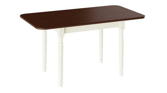 Стол обеденный «Валенсия» Тип 1 (Слоновая кость/Орех темный)-2