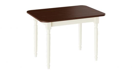 Стол обеденный «Валенсия» Тип 1 (Слоновая кость/Орех темный)-1