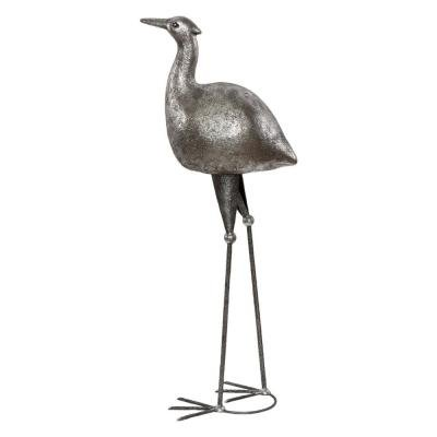 Скульптура Цапля Серебро-1