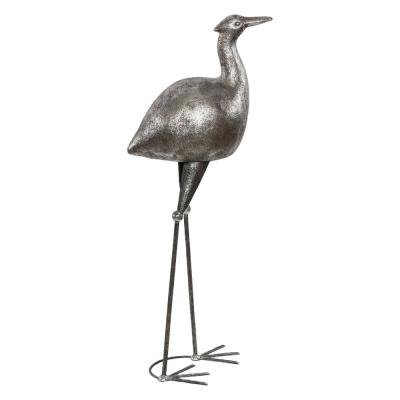 Скульптура Цапля Серебро-3