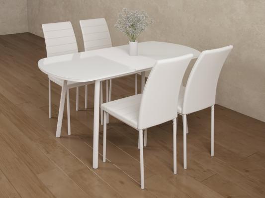 Обеденная группа для столовой и гостиной Мидел Белый-4