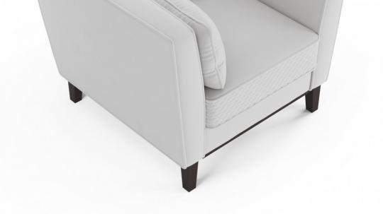 Кресло отдыха Неаполь (даймонд белый)-1
