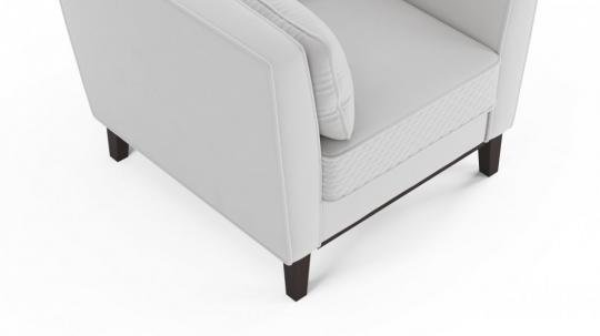 Кресло-кровать Неаполь (даймонд белый)-1