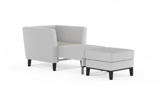 Кресло-кровать Неаполь (даймонд белый)-5