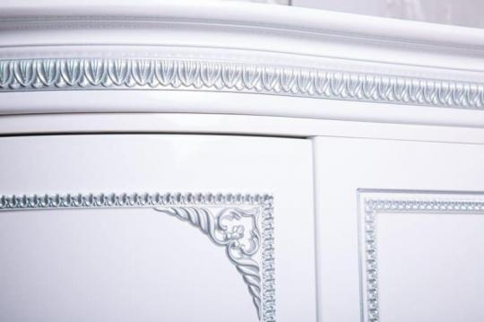 Обувница Динара 1.7 белое серебро-4