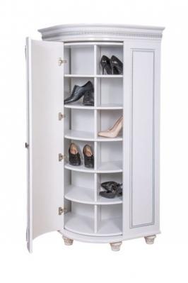 Обувница Динара 1.7 белое серебро-3