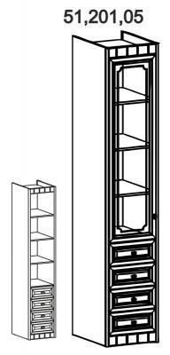 Шкаф 1-створчатый со стеклом