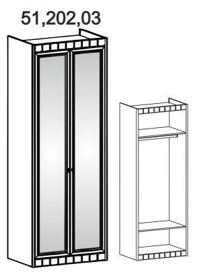 Шкаф 2-створчатый с зеркалом