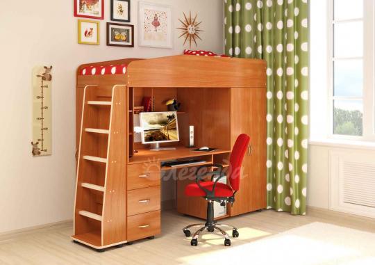 Кровать-чердак Легенда-1 со столом-8