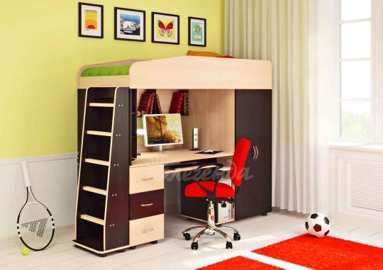 Кровать-чердак Легенда-1 со столом-5
