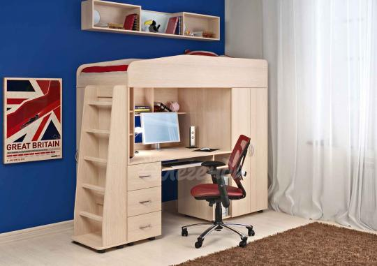 Кровать-чердак Легенда-1 со столом-7