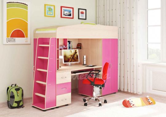 Кровать-чердак Легенда-1 со столом-2