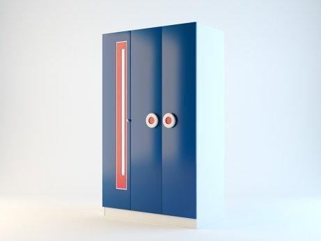 Шкаф 3-х дверный Ливио