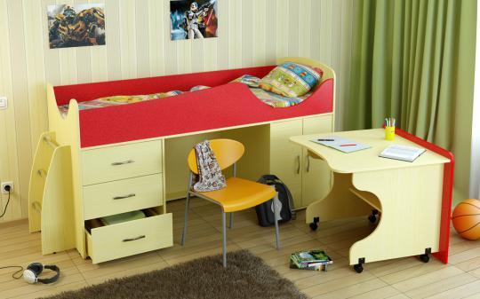 Кровать-чердак Карлсон Мини-4-2
