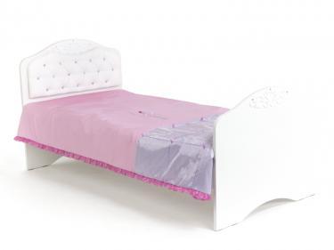 Кровать классика Princess №2 со стразами Сваровски, без ящика