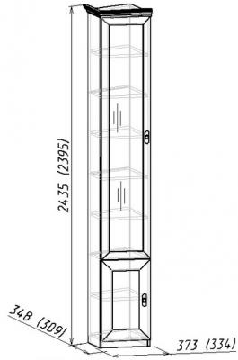 Шкаф для книг Montpellier (скошенный левый) 7