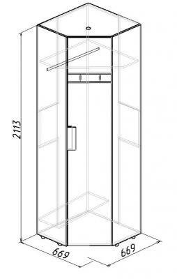 Шкаф угловой Hyper (левый/правый) (2)