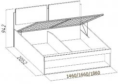 Кровать Hyper с основанием и подъемным механизмом