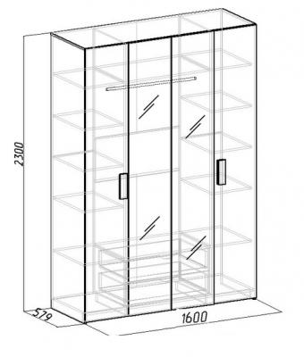 Шкаф для одежды и белья Hyper (1)
