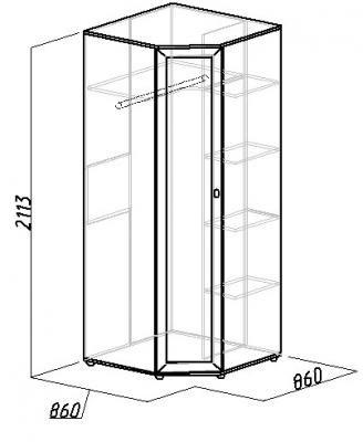 Шкаф угловой Милана без зеркала (1)
