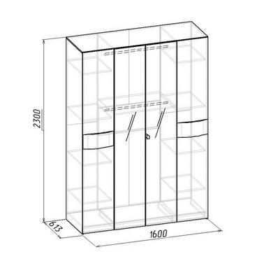 Шкаф для одежды и белья Амели (5)