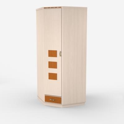 Шкаф для платья и белья угловой Кери Голд