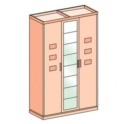 Шкаф трехдверный Петра-М