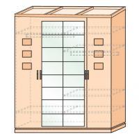 Шкаф четырехдверный Петра-М