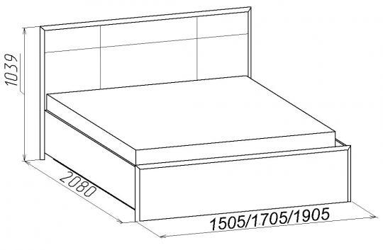 Кровать Люкс  Амели (без основания, без матраса)