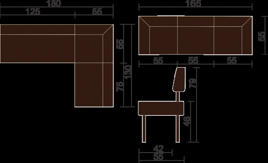 Кухонный угловой диван Берген-5