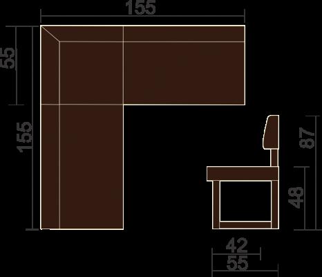 Кухонный угловой диван Борнео-6