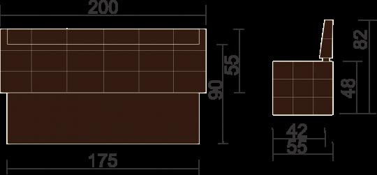 Кухонный диван Бристоль-10